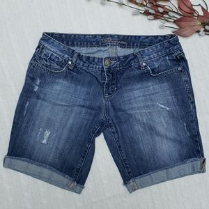 Bluenotes | jean shorts | distressed and faded